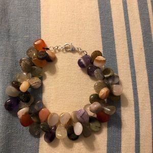 Jewelry - Genuine Multicolored Semi-precious stone bracelet.